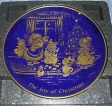 VINTAGE BRADFORD EXCHANGE THE JOY OF CHRISTMAS COLLECTOR PLATE 1976 (B18)