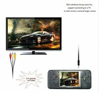 Handheld Video Game Console 32Bit Built-in 818 Free Retro Games TV OUT AV Cable