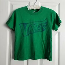 Vans Boy's Size S Green T Shirt ~ Groovy Graphic ~ Surf, Skate