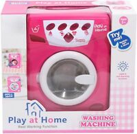 Kids Pink Washing Machine Pretend Play Toy Battery Operated Ideal Xmas Gift 3+