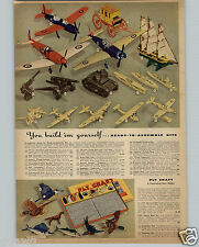 1942 PAPER AD Strombecker Modle Ready Cut Airacuda US Army Flying Fortress Tank