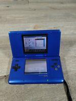 Nintendo DS BLUE Handheld BROKEN FOR PARTS OR REPAIR AS IS FREE SHIP
