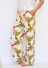 Peter Alexander Women's Cream Floral Printed Pyjama Pants - Small