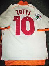 Authentic Totti As Roma Diadora 1997 1998 Jersey Maglia Italy Italia Shirt S