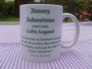 Jimmy Johnstone Glasgow Celtic legend tribute mug 11oz mug (new) Birthday Gift