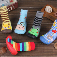 NEW Leather Infant Kids Cartoon Shoes Sole Non-Slip Baby Socks Thick Floor Socks