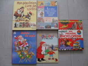 Lot 5 livres enfant conte noël oui-oui encyclopédie
