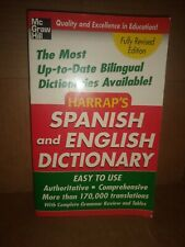 Harrap's Spanish And English Dictionary, Paperback, Brand New, Free shipping ...