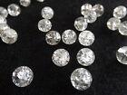 50 perles en verre craquelé rondes BLANC CRISTAL 8 mm