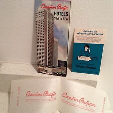 Vintage Canadian Pacific Hotels Brochure & Collectors Shoe Cloth