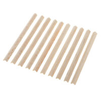10 Wood Bar L Shapes Wooden Sticks Balsa Modello per Woodcraft Legno diy