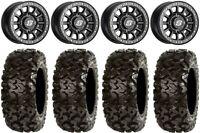 "Sedona Sano Bdlk 14"" Wheels Bk +30mm 30"" Rip Saw Tires Pioneer 1000 / Talon"