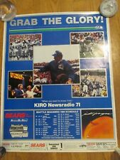 1984 SEATTLE SEAHAWKS SCHEDULE POSTER-SEARS