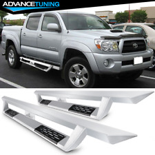 Fits 07-19 Toyota Tacoma Double Cab Steel Side Step Bar Running Boards Silver