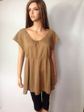 Prenatal Italian Maternity Clothing Company, Brown Linen and Cotton Blend Knit P