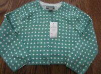 BABY GAP BABY GIRL'S 18 24 CARDIGAN SWEATER GREEN WHITE POLKA DOTS NWT EASTER