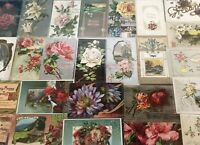 Nice Lot of 25~Antique ~BIRTHDAY~ Greetings~Happy Birthday Postcards-a638