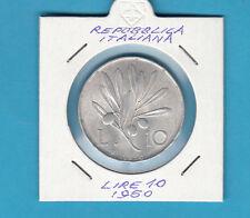 ITALIA LIRE 10 VECCHIO TIPO OLIVO ANNO 1950 BUONA CONSERVAZIONE  PREZZO REGALO