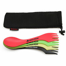 Plastic Spork - Colourful all in one Spoon, Fork, Knife Cutlery from Wild Peak ▲