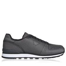 Armani Jeans Mens Jacquard Black Trainers Size 7 UK