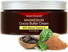 Natural Magnesium Cream for Pain Calm, Leg Cramps, Sleep Muscle Soreness. With M