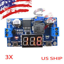 3X Buck Step-down LM2596 Power Converter Module DC 4.0~40 1.3-37V LED Voltmeter