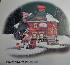 Dept 56 New England Village Revere Silver Works Set of 2 new in box