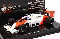 MCLAREN MP4/2C ALAIN PROST WORLD CHAMPION 1986 MINICHAMPS 436 860001 1:43 NEW