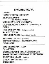 Travis Tritt Official 2011 Concert-Used Set List 001 Country