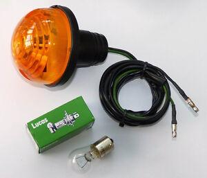 Lucas Type L760 Amber Flasher / Indicator Lamp for Classic Car Mini MG, AFU3389
