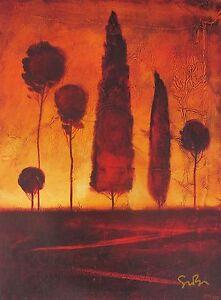 "SIMON BULL ""TOSCANA IV"" Hand Signed Limited Edition Art Giclee on Canvas"