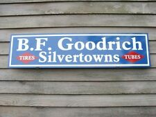 "BF GOODRICH SILVERTOWN TIRES/TUBES1930s STYLE1'X46"" METAL DEALER SIGNGARAGE ART"