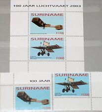 SURINAM 2003 1894-95 Block 93 1308-1309a Aviation Flugzeuge Airplanes Planes MNH