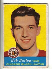 1957-58 Topps hockey card #19 Bob Bailey, Chicago Blackhawks VG