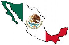 "ADESIVI AUTO Messico ""MEXICO"" Sticker 11cm (4.3"") decal die-cut konturg."