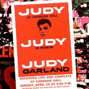 Judy at Carnegie Hall by Judy Garland (CD, Jan-1989, 2 Discs, Capitol/EMI...