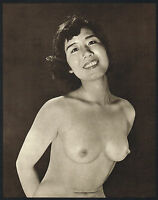 Original Vintage Japanese Female Nude Everard Photo Gravure Print 50si