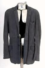 Paul Smith London Pelle scamosciata Giacca in Pelle Blu EU50 Medio Rrp £ 695 Blazer