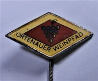 "Alte Anstecknadel /Pin ""ORTENAUER WEINPFAD"" Metall - emailliert - Erh 2"