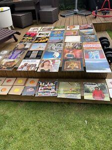 JOB LOT 33 PLUS VINYL ALBUMS 15 SINGLES ELVIS ABBA ROCK JIM REEVES THE SEEKERS