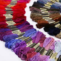 Lot 50 Multi Colors Cross Stitch Cotton Embroidery Thread Floss Sewing Skeins LA