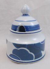 Villeroy & et boch blue cloud sugar bowl/préserver pot/honey pot