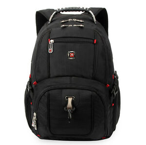 "15"" Men Laptop Backpack Nylon Computer Cases Travel SWISS STYLE School Bag 283"