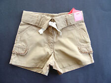 GYMBOREE Coral Reef Beige Cotton Shorts Girls 4 NEW