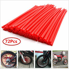 Universal 72Pcs Kit Motocross Dirt Bike Enduro Wheel Rim Spoke Skins Cover Wraps