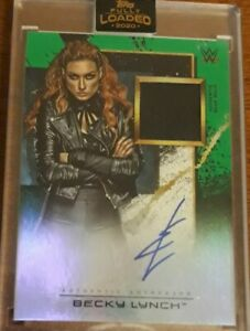 2020 Topps Fully Loaded WWE Wrestling Green Becky Lynch AUTOGRAPH GEAR Patch /50