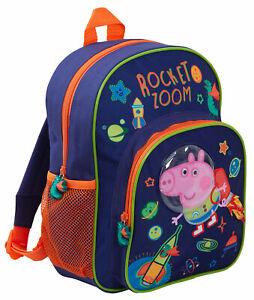 Peppa Pig George Pig 3D Astronaut Backpack Book Bag School Nursery Rucksack