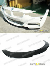 12+ PAINTED GLOSS BLACK BMW F30 M-TECH M-SPORT BUMPER USE K STYLE FRONT LIP