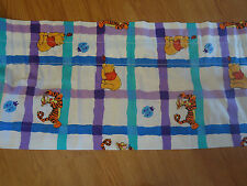 Disney Winnie the Pooh Window Curtain Valance Checkered Lady Bug Bedding Room