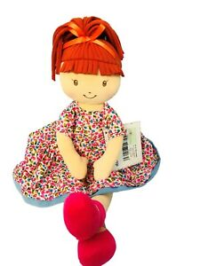 Personalised rag doll, Molly has red/ginger hair, birthday gift, age from birth